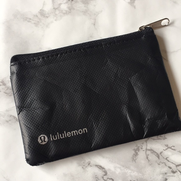 52b9b229cb lululemon athletica Accessories | Lululemon Black Zip Card Holder ...